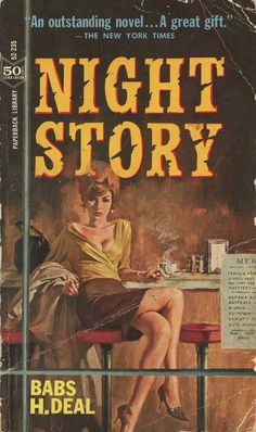 Night Story - Giclée Canvas Print of Vintage Pulp Paperback Pulp Fiction Comics, Pulp Fiction Book, Archie Comics, Serpieri, Vintage Book Covers, Vintage Books, Robert Mcginnis, Pulp Magazine, Up Book