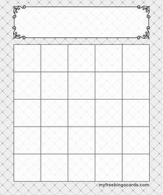 5x5 Bingo Template                                                                                                                                                                                 More