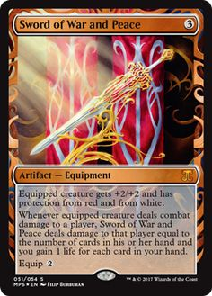 Sword of War and Peace Artifact - Equipment Aether Revolt Magic the Gathering