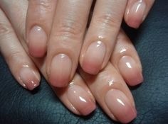 Soften a french manicure with an ombre tip