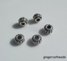50 x Tibetan Silver Plated Spacer Beads - 8mm - Barrel