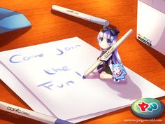 #TeamAoi #NyanvsAoi #MarvyUchida Have a boring day? Just take this Tiny Aoi to your home, make sure you give her enough papers, because if there's no paper she'll draw on your wall. Entry : https://www.paigeeworld.com/post/57d7d093fae5e6380e18e485/teamaoi-nyanvsaoi-marvyuchida-aoi-chibi-drawing-by-metyuu