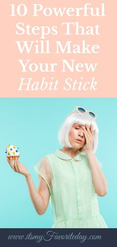 If you are wanting to be intentional and make a positive new habit stick this is a MUST read! Self Development, Personal Development, Habits Of Successful People, Marketing Goals, Time Management Tips, Stress Management, Making Life Easier, Finding Happiness, Good Habits