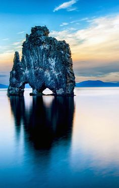 Hvitserkur is a spectacular rock in the sea on the Northern coast of Iceland. Legends say it is a petrified troll.   Iceland Travel Guide