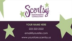 Scentsy business card templates docstoc docs scentsy pinterest scentsy business card design 1 wajeb Image collections