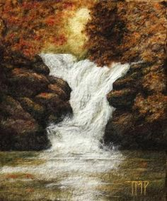 """""""Autumn Cascade"""" by Tracey McCracken Palmer of Bonnieblink Studio"""
