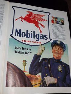 VINTAGE Mobilgas1941 Ephemera from Collier's by VintageKitschEtsy, $18.95