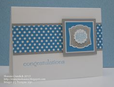 CAS Baby Label by stampinshauna - Cards and Paper Crafts at Splitcoaststampers