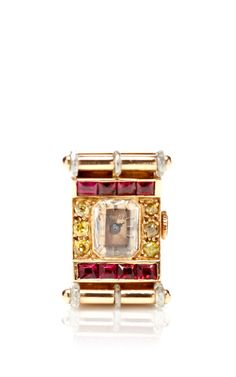 Vintage Ruby, Gold And Diamond Ring Watch By Van Cleef & Arpels by FD Gallery, Fall-Winter 2014 (=)