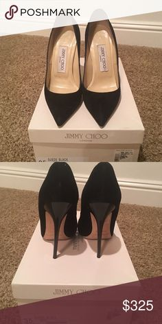 Jimmy Choo Anouk Pumps Heel height approximately 4 inches - only worn a handful of times. Will fit a size 35-35.5 Jimmy Choo Shoes Heels