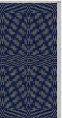 Hand Weaving Draft: Inouye Bonnie, advancing mirrors, tie-up 12778: Tie-up from…