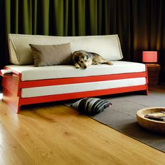 Home Design and Interior Design Gallery of Appealing Bright Red Convertible Bed Sofa Diy Sofa, Twin Bed Sofa, Bed Couch, Twin Beds, Bunk Bed, Sofa Beds, Trundle Beds, Chair Bed, Loveseat Sofa