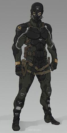Fantasy Character Design, Character Design Inspiration, Character Concept, Character Art, Cyberpunk Character, Cyberpunk Art, Armor Concept, Weapon Concept Art, Fantasy Armor
