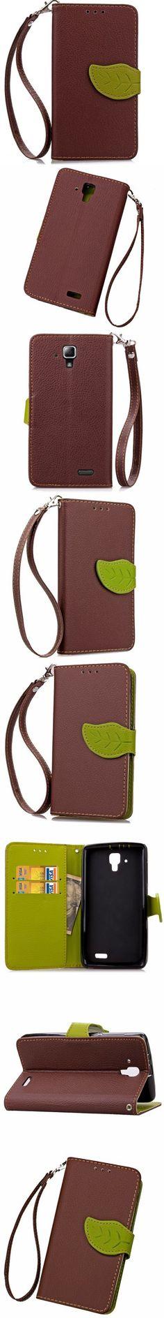 Love Leaf Card Lanyard Pu Leather for Lenovo A536 -$4.67