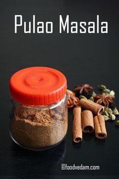 Foodvedam-Pamper your taste buds Masala Powder Recipe, Masala Sauce, Masala Recipe, Garam Masala, Homemade Spices, Homemade Seasonings, Biryani Recipe, Indian Food Recipes, Rice Recipes