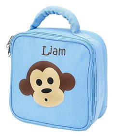 Love this Blue Monkey Personalized Lunch Bag on #zulily! #zulilyfinds