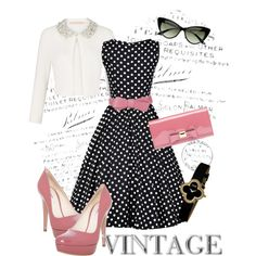"""Classic Polka Dots"" by summrlynn on Polyvore"