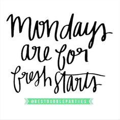 Monday are for fresh starts! Happy Monday Bubble Fans     #mondays #mondaymotivation #freshstarts #bestbubbleparties #happymonday