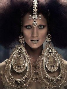 No words can explain.. Bridal Photography, Creative Photography, Fashion Photography, Editorial Photography, Afro, Persian Princess, Tribal Looks, Mata Hari, Arte Cyberpunk
