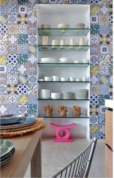 pared de mosaico