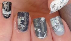 Greyscale Ombre Splatter with Holo