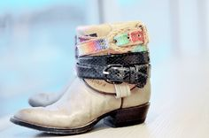 belted boots. the feather junkie. so cool