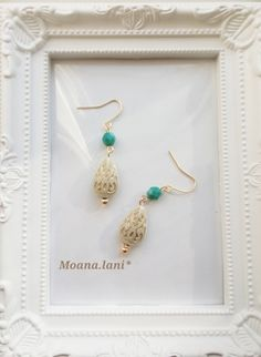 Beaded Jewelry, Jewelry Necklaces, Turquoise Necklace, Piercings, Diy And Crafts, Beading, Drop Earrings, Handmade, Image