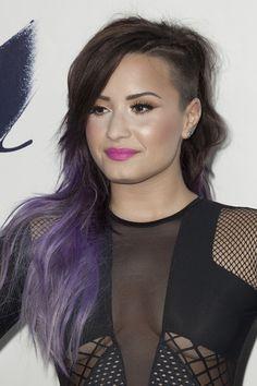 Demi Lovato long undercut hairstyle for women
