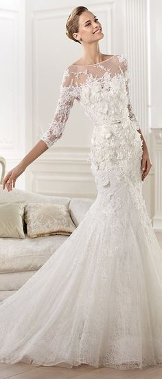 Pronovias Wedding Dress - Cignus - 2014 Elie By Elie Saab Collection - (weddinginspirasi)