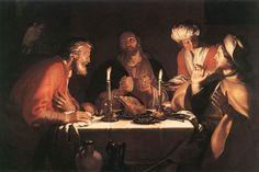 Abraham Bloemaert, Emmaus Disciples, 1622. Mus. Royaux des Beaux-Arts, Brussels.