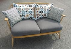 Image 0 of Bespoke 2 seater blonde Ercol with Hus & Hem Scandi fabric cushions by Eclectic Chair