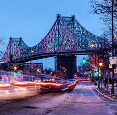 """3,297 Likes, 18 Comments - Montreal, Canada (@livemontreal) on Instagram: """"The lights of the Jacques Cartier bridge 🙌🏻/ les lumières du Pont Jacques Cartier ✨📷@raym0ndma #mtl…"""""""