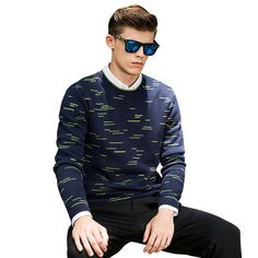 Fashion Men Pullover o neck Cotton Print Sweaters Men Plus size sweater Brand mens clothing chandail homme pullovers masculinos
