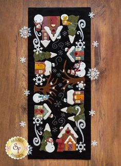 Snowman Lane Table Runner Wool Kit 2019 Snowman Lane Wool Table Runner Kit RESERVE available at Shabby Fabrics The post Snowman Lane Table Runner Wool Kit 2019 appeared first on Wool Diy. Christmas Applique, Christmas Sewing, Felt Christmas, Christmas Crafts, Christmas Christmas, Wool Applique Patterns, Felt Applique, Wool Applique Quilts, Winter Szenen