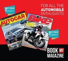 For all car and bike lovers out there, subscribe to the latest magazines on automobiles and be up to with the mechanical world!  Log on to www.bookmymagazine.com now! #BookMyMagazine #Automobiles #Magazines #Subscribenow