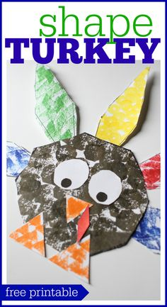 Shape Turkey for Preschoolers: A cute Thanksgiving craft that reinforces shape recognition!