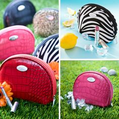 Put these fab little freeze and go cosmetic bags on your wishlist for every golfer, tennis player or outdoor enthusiast!  Keeps your lipstick, sunscreen, medications or even a snack cool and fresh. Cool-itCaddy.com