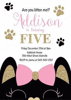 Details about Cat, Kitten, Kitty, Birthday Party Invitation – invitation Beach Party Games, Tween Party Games, Bridal Party Games, Princess Party Games, Backyard Party Games, Engagement Party Games, Dinner Party Games, Graduation Party Games, Halloween Party Games