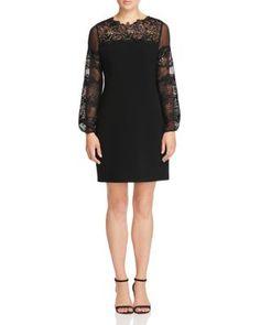 Elie Tahari Roni Lace Panel Dress | Bloomingdale's