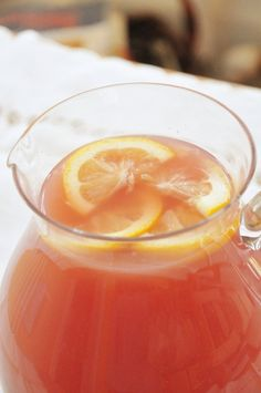 Mimosa Punch  2 liters of gingerale  2 Cups orange juice  1 can frozen pink lemonade