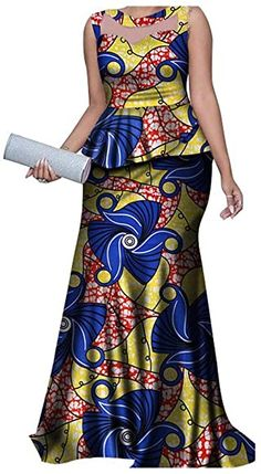 Traditional African Clothing Dashiki 2 Pieces Skirts Sets Ankara Dresses Formal with Headtie Bazin Riche Women Clothes Nigerian Dress Styles, African Dresses For Kids, Latest African Fashion Dresses, African Dresses For Women, African Attire, Kitenge, South African Traditional Dresses, African Print Dress Designs, African Inspired Clothing