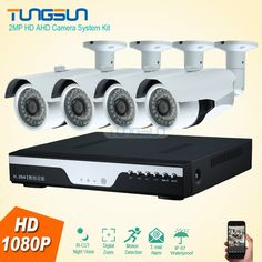 256.43$  Buy here - http://aliwwf.shopchina.info/1/go.php?t=32789610649 - New 2MP HD 4 Channel 1080P Surveillance Camera Home Metal Bullet Waterproof Outdoor 4CH DVR Security Camera System kit 256.43$ #SHOPPING