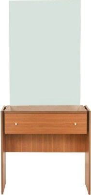 Wood Pecker Engineered Wood Dressing Table Finish Color Brown
