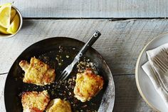 Canal House's Chicken Thighs with Lemon recipe on Food52