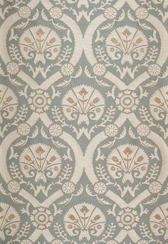 Fabric | Taza Damask in Dusk | Schumacher #65770 I wish the little contrast flowers were cherry red.