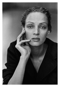 Uma Thurman fotografiada por Peter Lindbergh, 1997