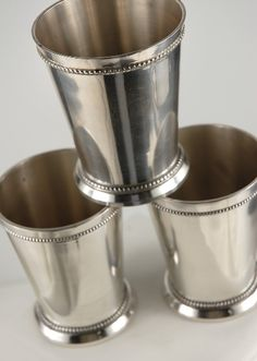 mint julep cups - I used to have several of these. I'm pinning this to remind myself to find them!! :)