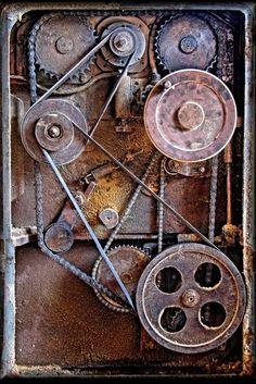 Old world rustic cog wheels