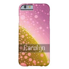 Modern Art Inspired Barely There iPhone 6 Case A soft and gentle looking modern art phone case featuring an attention getting pattern of swirls and circles in pink and gold. #pastel #soft #elegant #lights #pretty #glitter #circles #swirls #gold #pink...