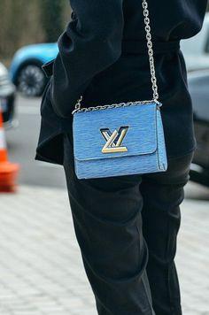 Blue Louis Vuitton crossbody